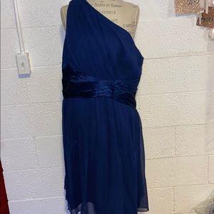 Maggie London royal blue cocktail dress